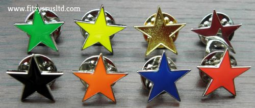 Star Lapel Pin Badge School Form House Various Colours Award Brooch 5 Pointed